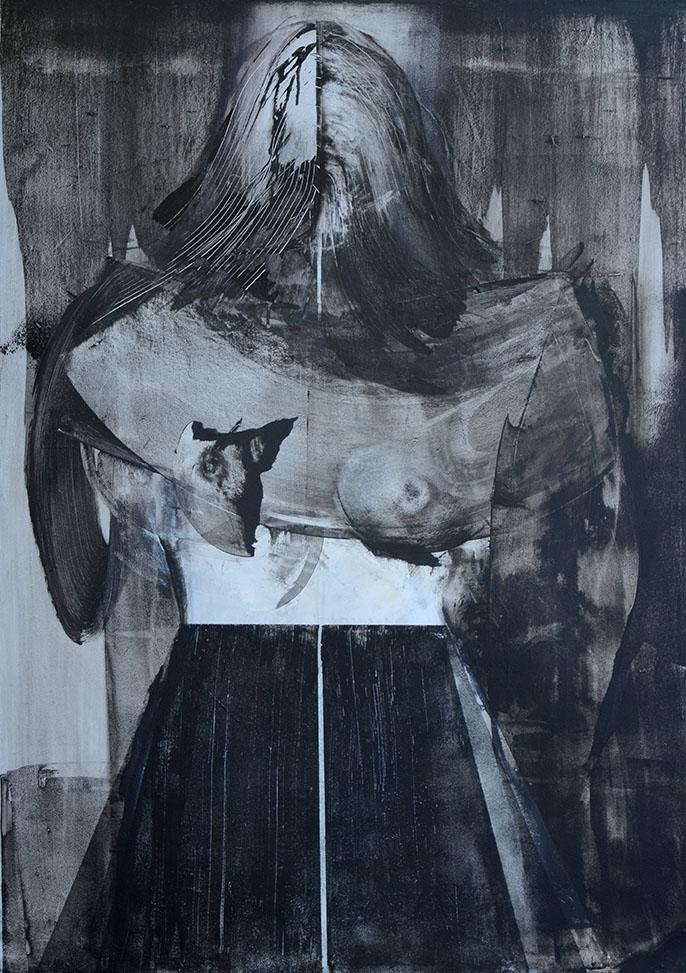 obraz olejny na płycie portert kobiety malarstwo Weronika Pawłowska