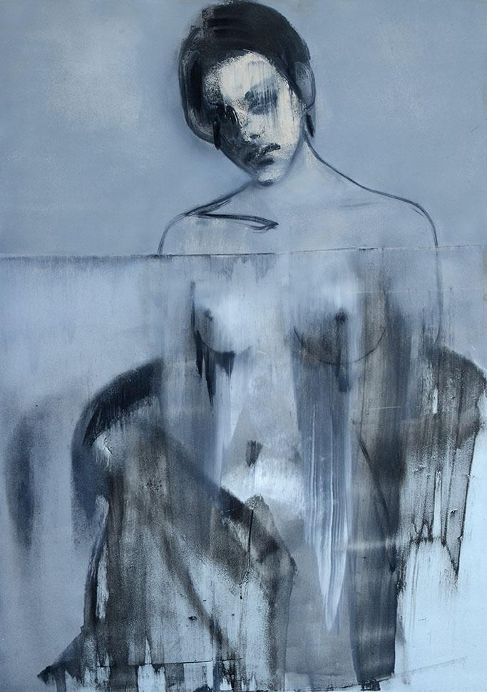 obraz olejny na płycie pilśniowej malarstwo Weronika Pawłowska