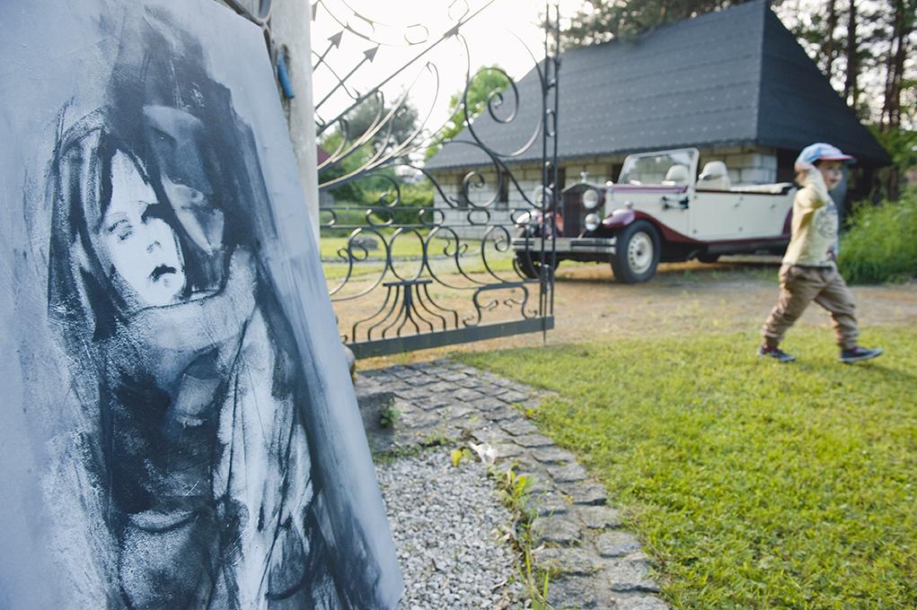 plenerowa wystawa portretów Weroniki Pawłowskiej